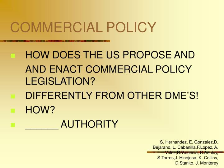 Commercial policy3