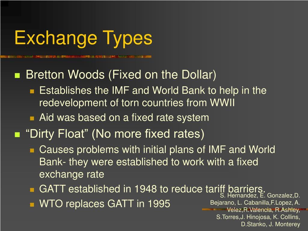 Exchange Types