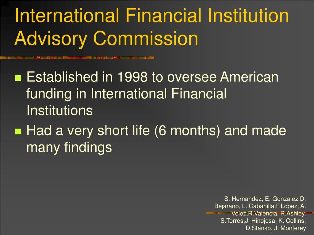 International Financial Institution Advisory Commission