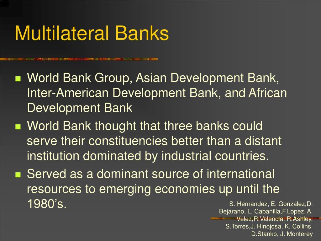 Multilateral Banks