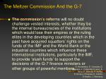the meltzer commission and the g 7107