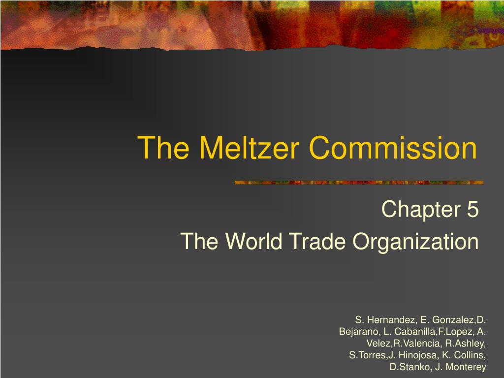 The Meltzer Commission