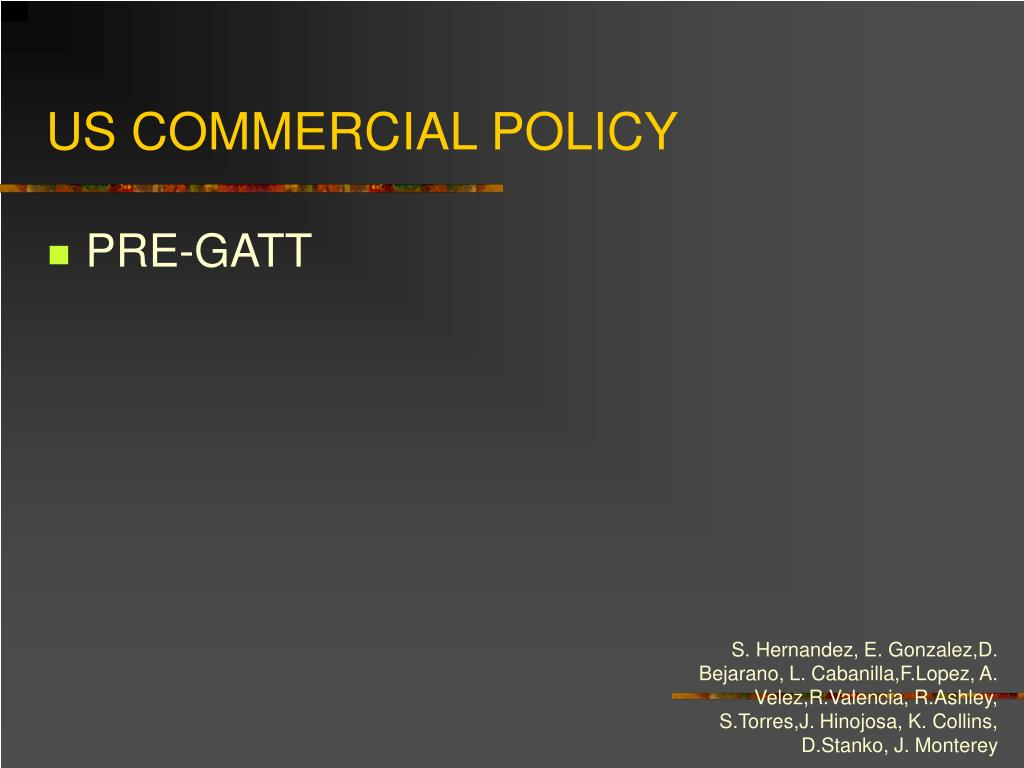US COMMERCIAL POLICY