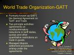 world trade organization gatt