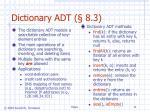 dictionary adt 8 3