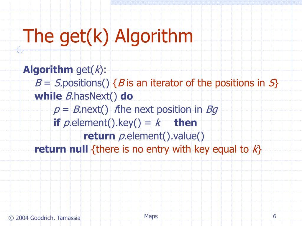 The get(k) Algorithm