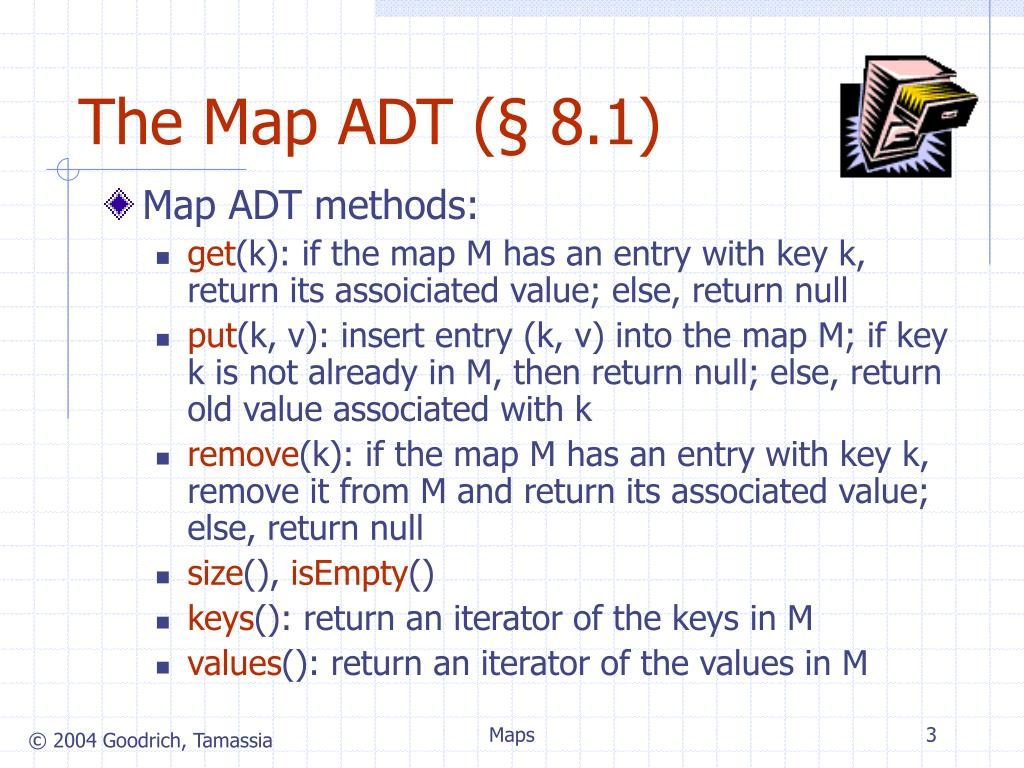 The Map ADT (§ 8.1)