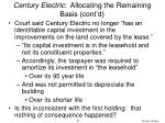 century electric allocating the remaining basis cont d