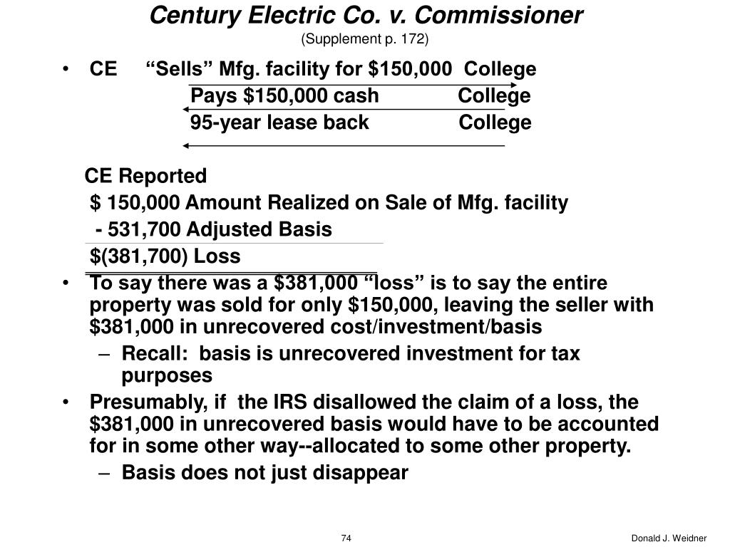 Century Electric Co. v. Commissioner