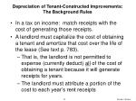 depreciation of tenant constructed improvements the background rules