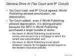 geneva drive in tax court and 9 th circuit