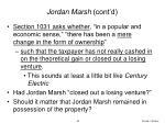 jordan marsh cont d