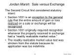 jordan marsh sale versus exchange85