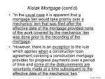 kislak mortgage cont d