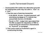 leslie tannenwald dissent