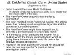 m dematteo constr co v united states supplement p 154