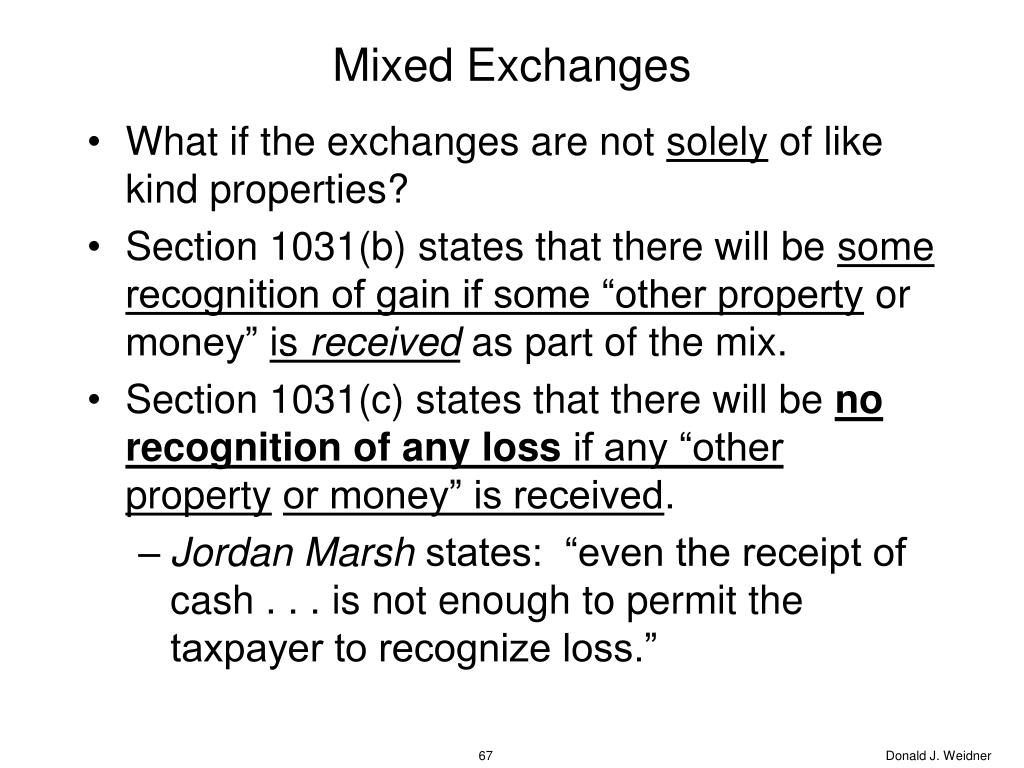 Mixed Exchanges