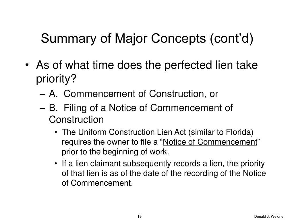 Summary of Major Concepts (cont'd)