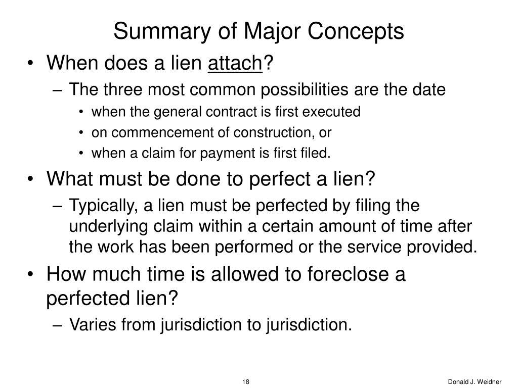 Summary of Major Concepts