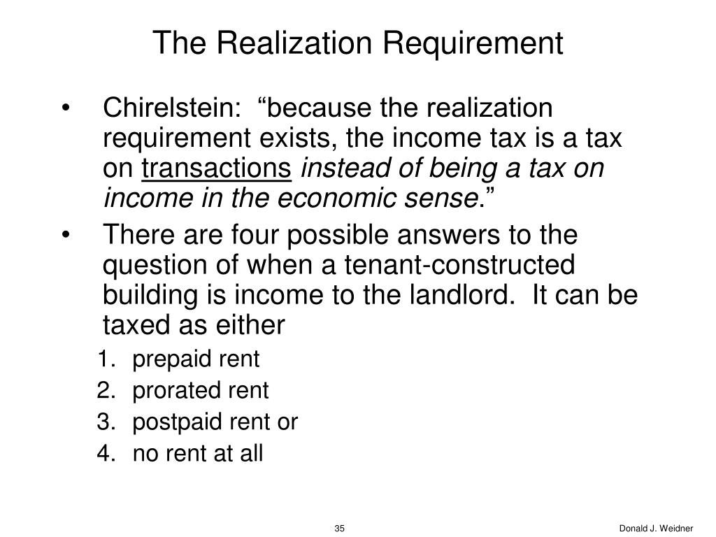 The Realization Requirement