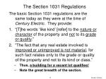 the section 1031 regulations