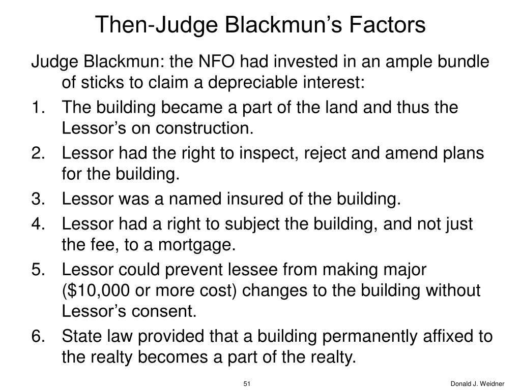 Then-Judge Blackmun's Factors