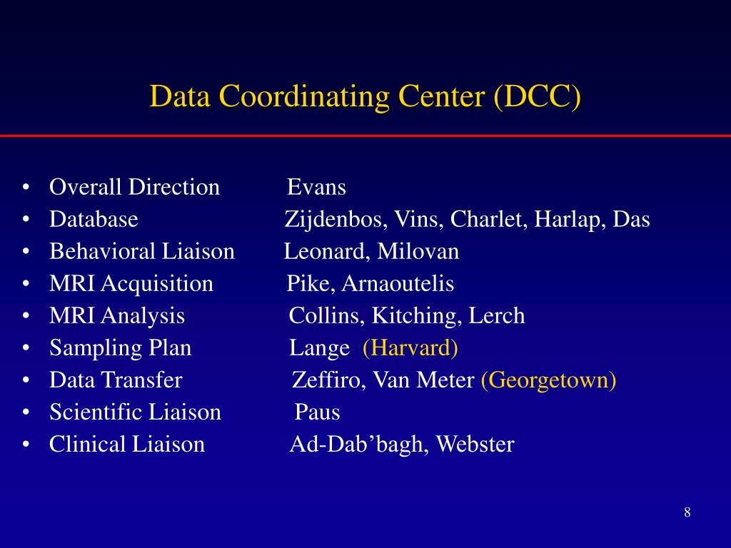 Data Coordinating Center (DCC)