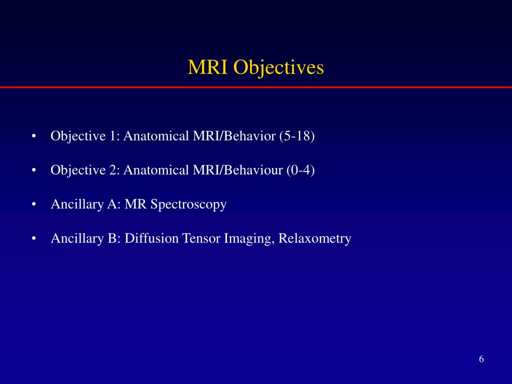 MRI Objectives