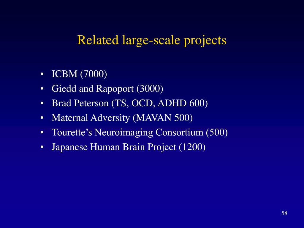 Related large-scale projects