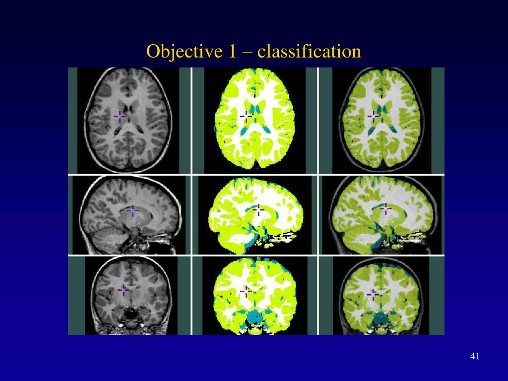 Objective 1 – classification