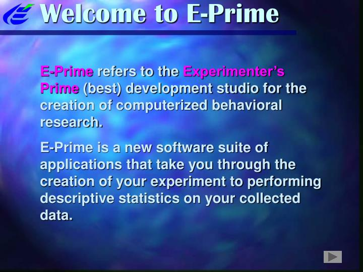 welcome to e prime n.