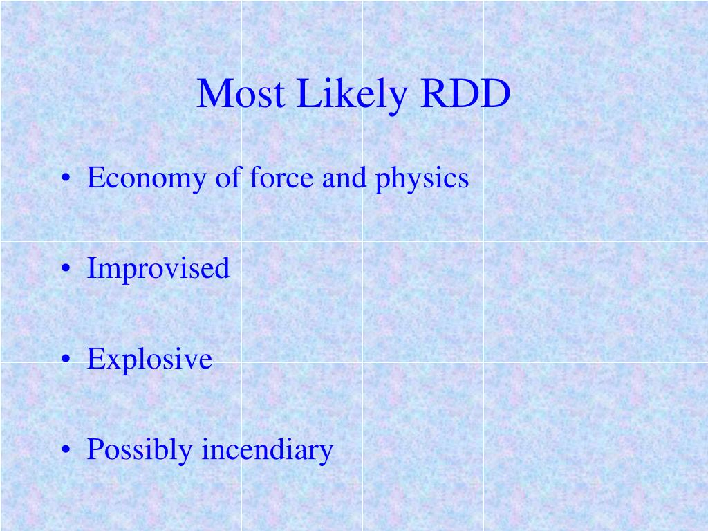 Most Likely RDD