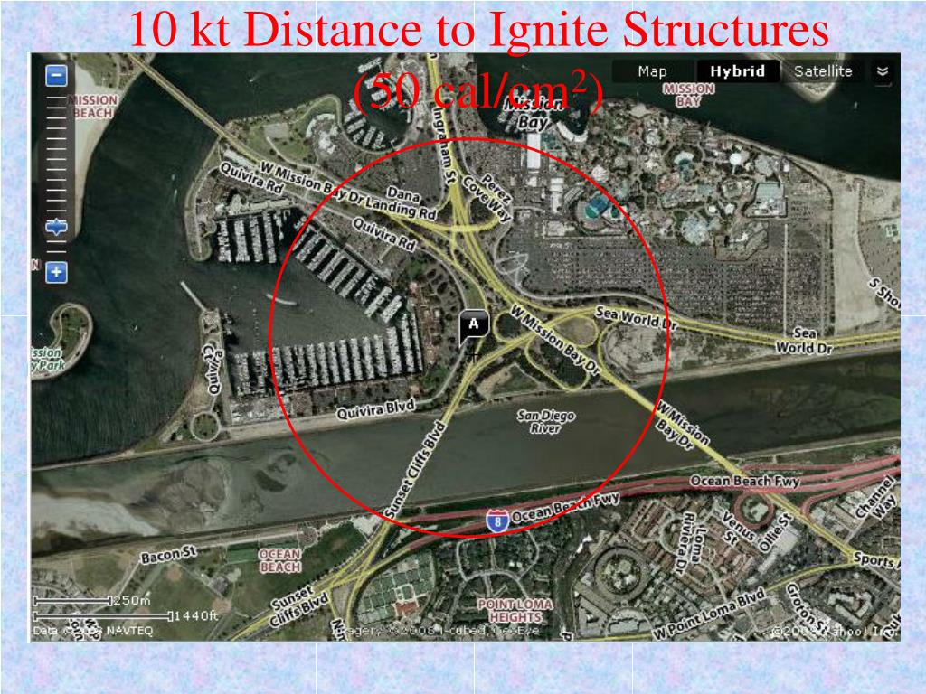 10 kt Distance to Ignite Structures