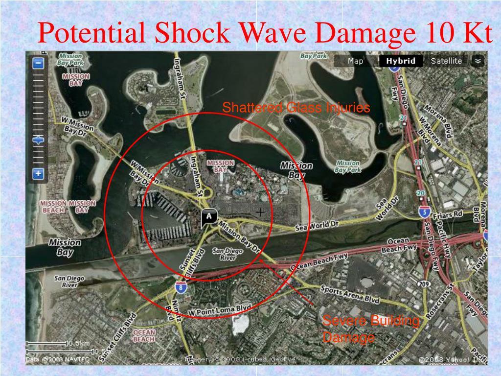 Potential Shock Wave Damage 10 Kt