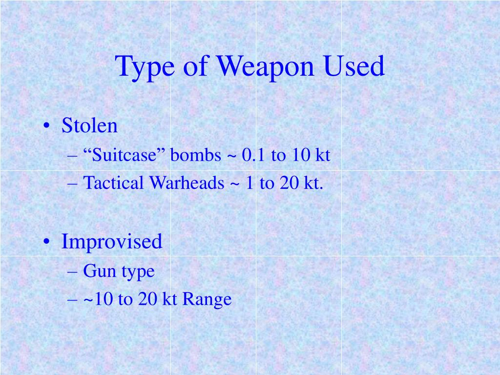 Type of Weapon Used
