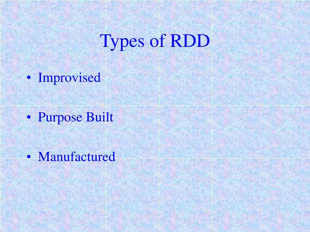 Types of RDD
