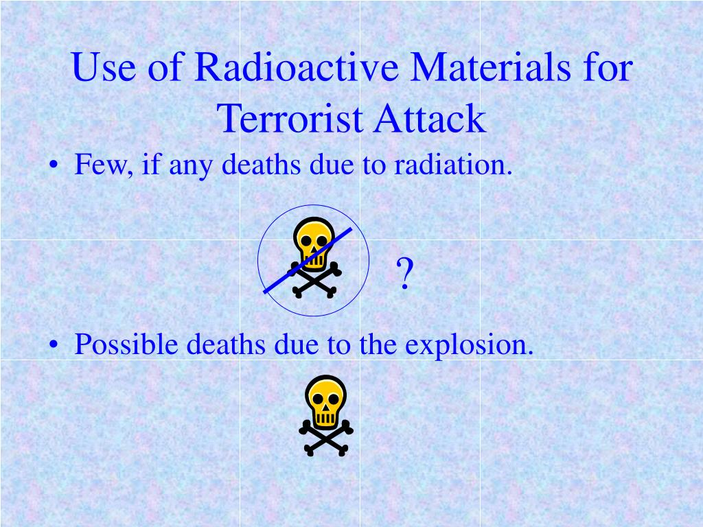 Use of Radioactive Materials for Terrorist Attack