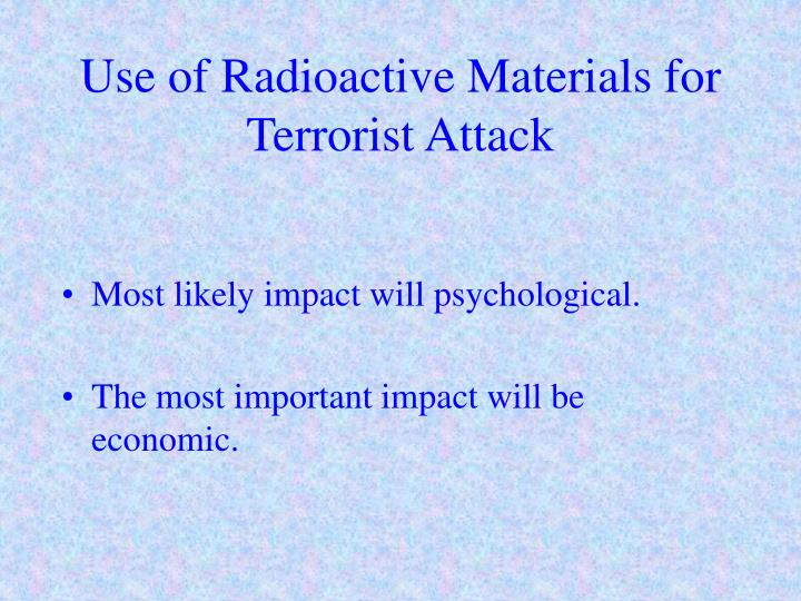 Use of radioactive materials for terrorist attack3