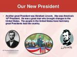 our new president8