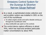 emissions control system for the durango silverton narrow gauge railroad1