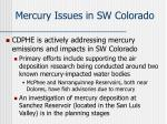 mercury issues in sw colorado