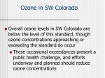 ozone in sw colorado
