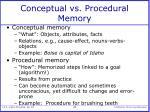 conceptual vs procedural memory
