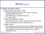 errors cont40