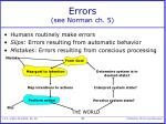 errors see norman ch 5
