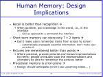 human memory design implications