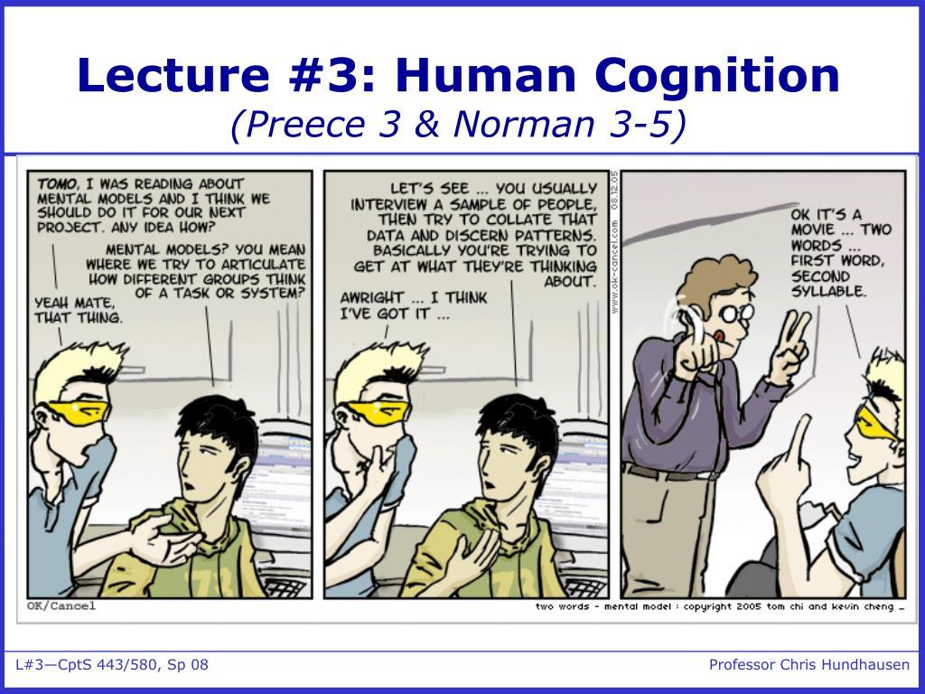 lecture 3 human cognition preece 3 norman 3 5 l.