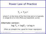 power law of practice