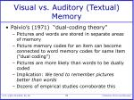 visual vs auditory textual memory