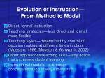 evolution of instruction from method to model